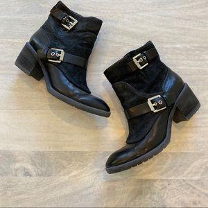 Donald J Pliner Delta black leather boots 8.5